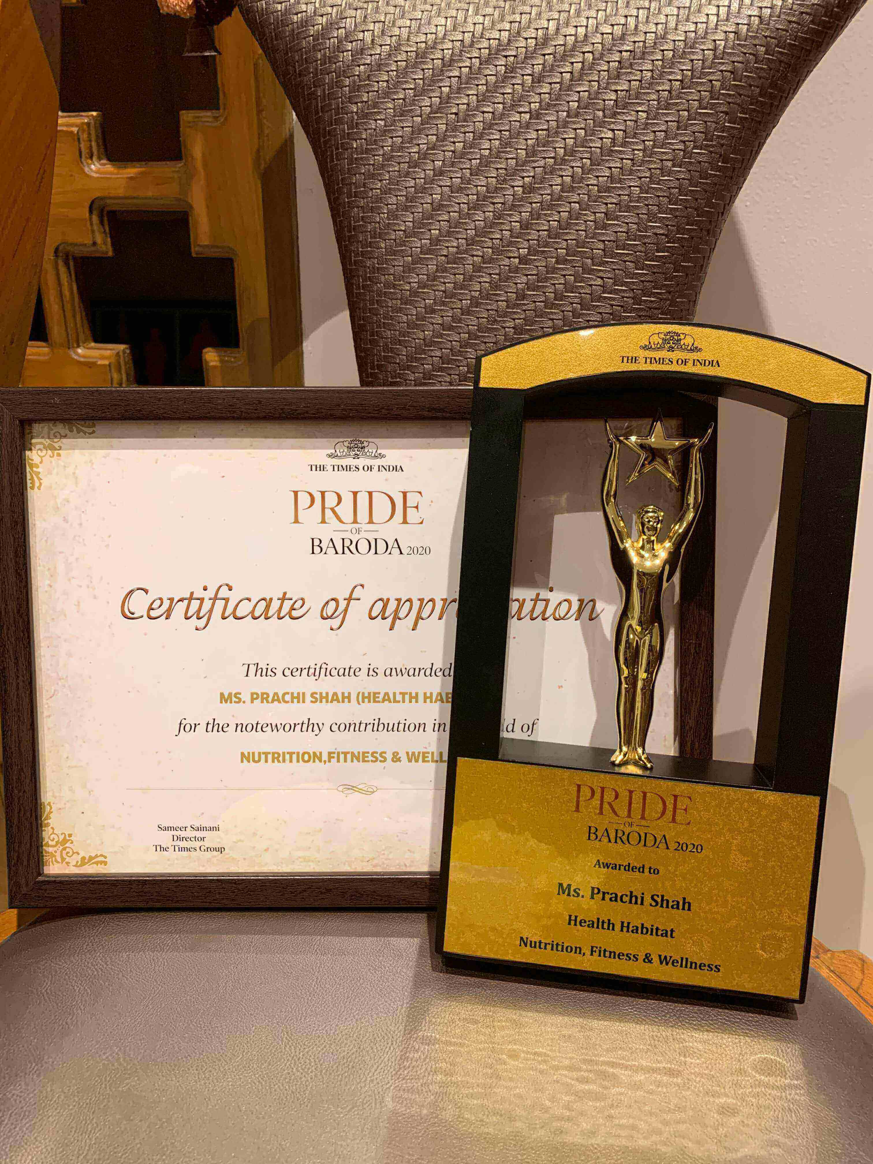 The Times of India - Pride of Baroda 20201
