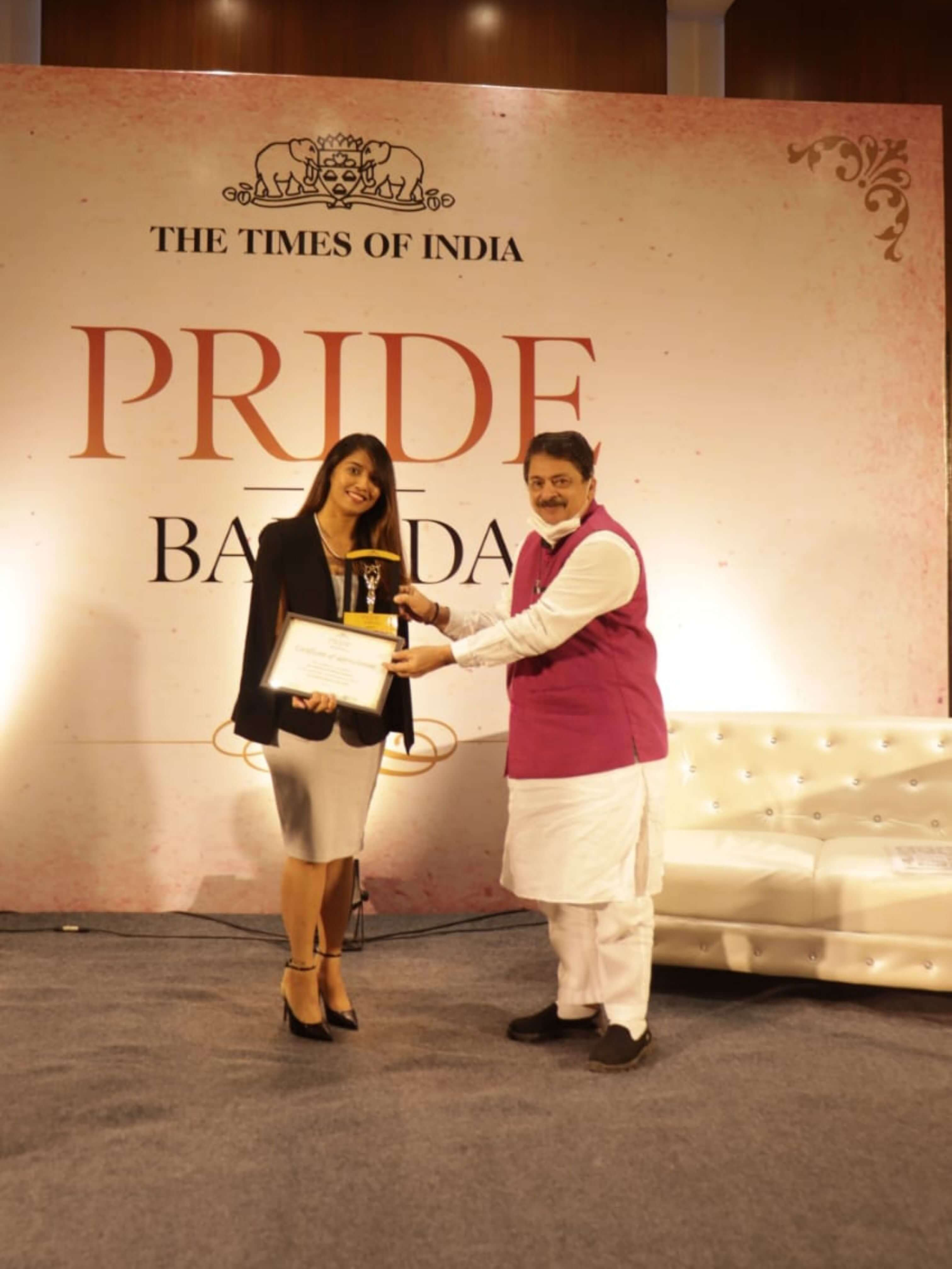 The Times of India - Pride of Baroda 2020